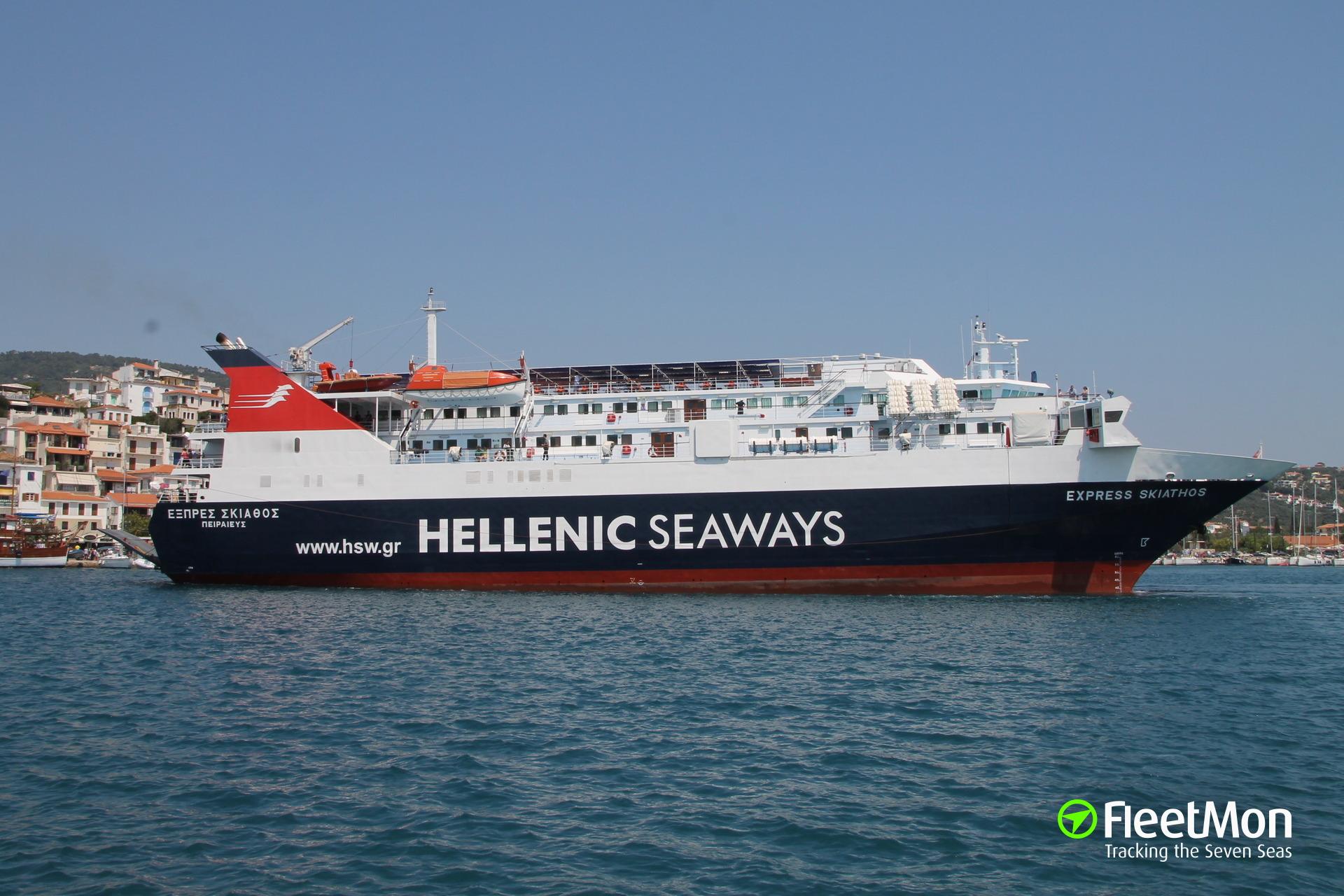 Ferry Express Skiathos interrupted her trip to Sporades archipelago