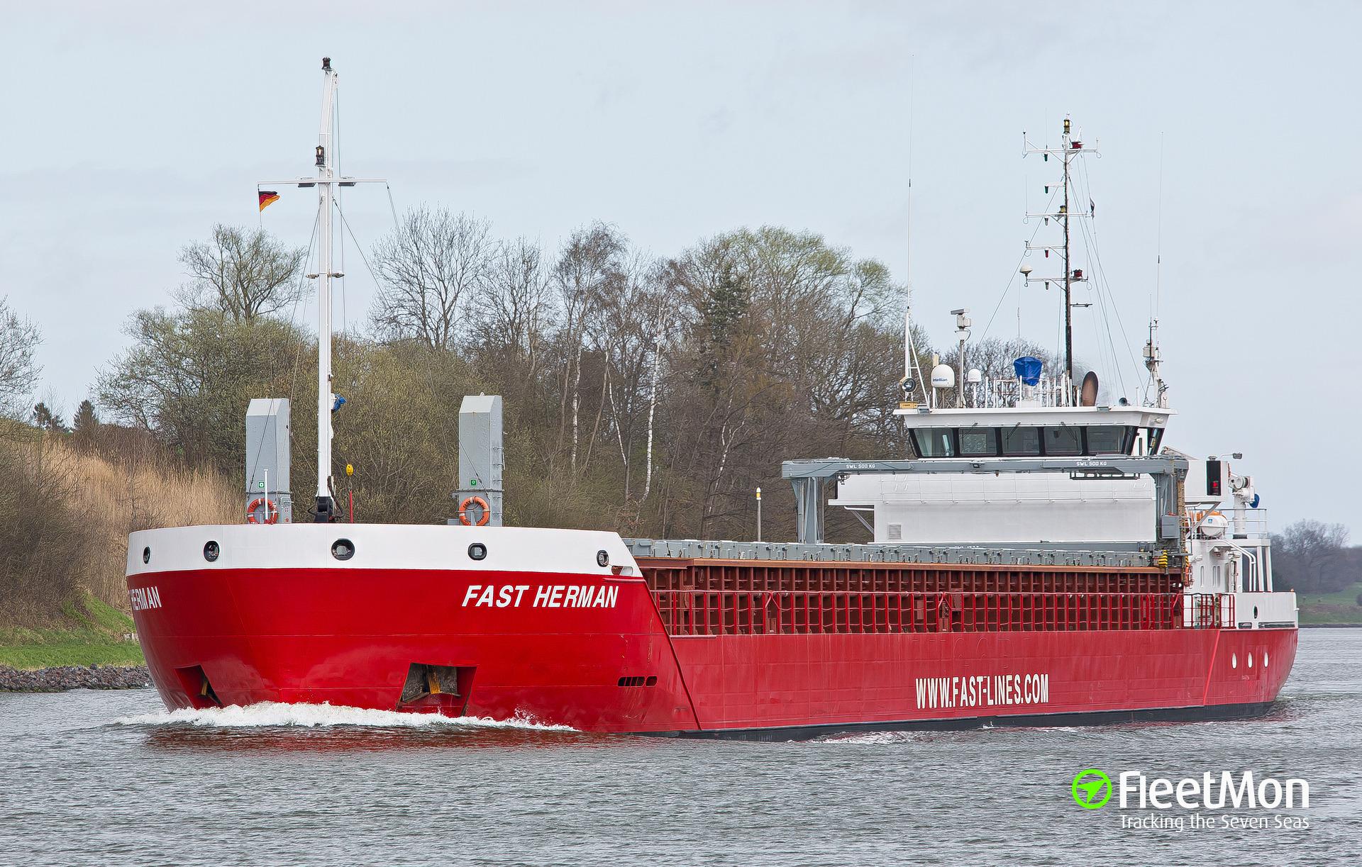 FAST HERMAN grounding, Baltic sea