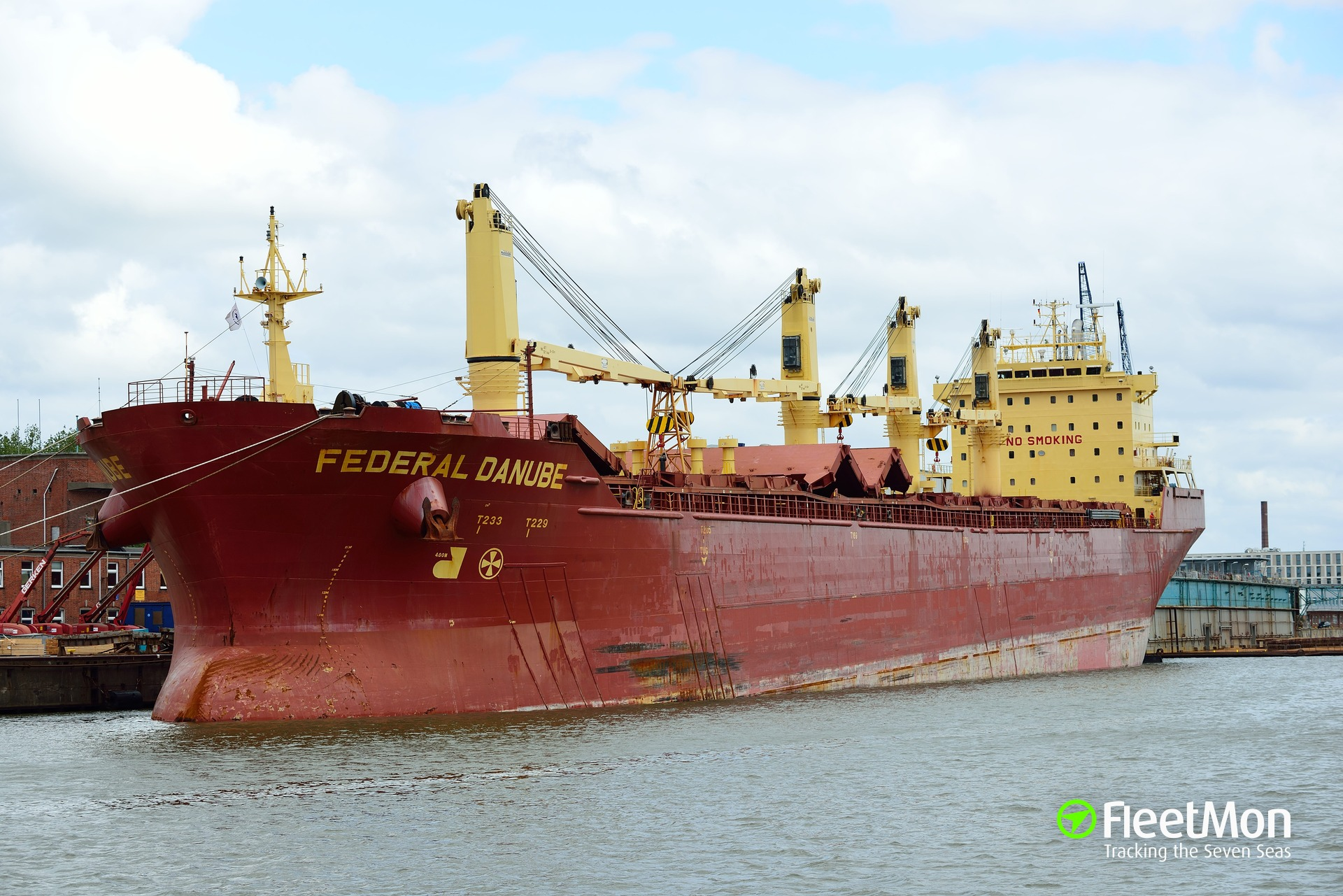 Bulk carrier FEDERAL DANUBE emergency call