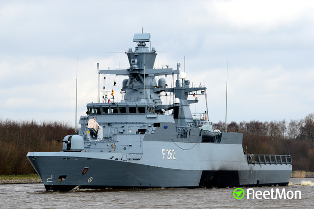 German Navy corvette damaged in collision, Kiel