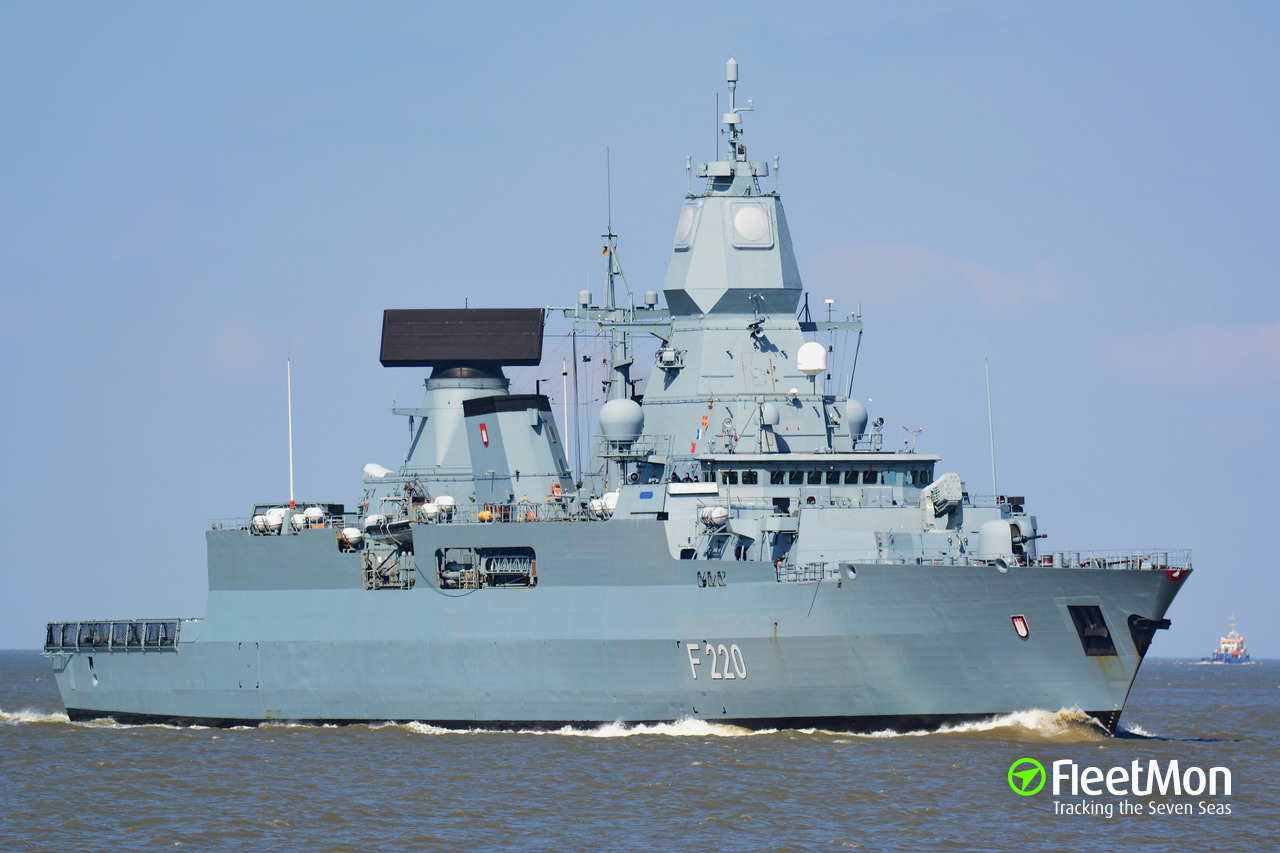 Fgs Security vessel fgs hamburg (frigate) imo —, mmsi 211905000