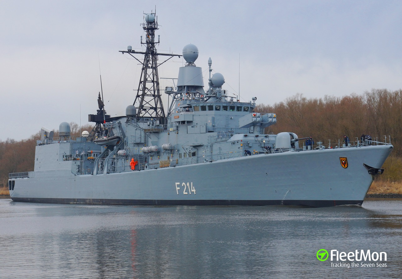Fgs Security vessel fgs l�beck (frigate) imo —, mmsi 211210210