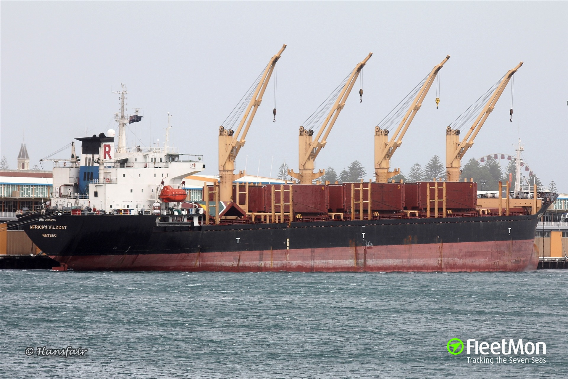 Bulk carrier adrift in Indian ocean