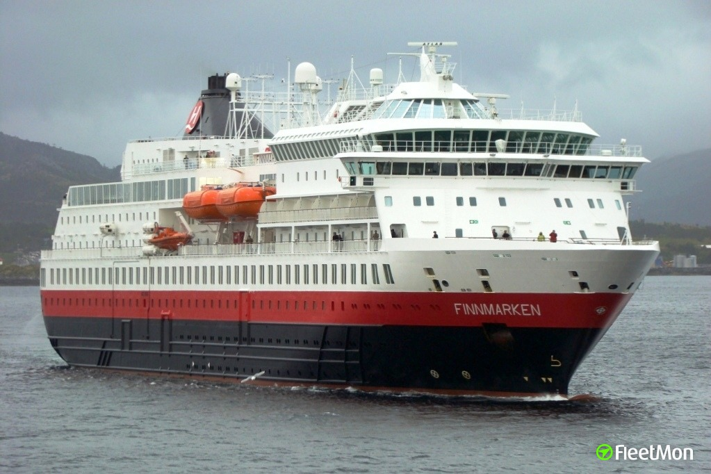 Ferry FINNMARKEN probably damaged in collision with unidentified object
