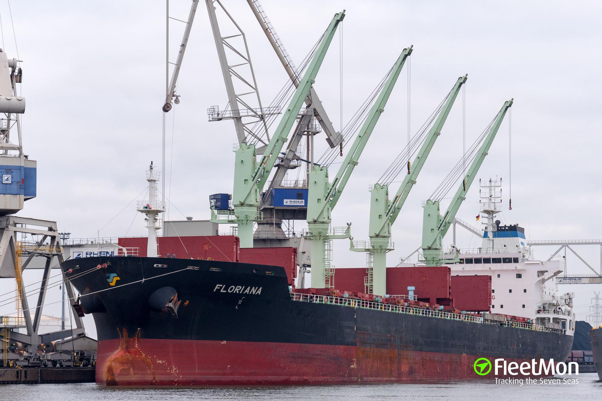 Bulk carrier FLORIANA grounding