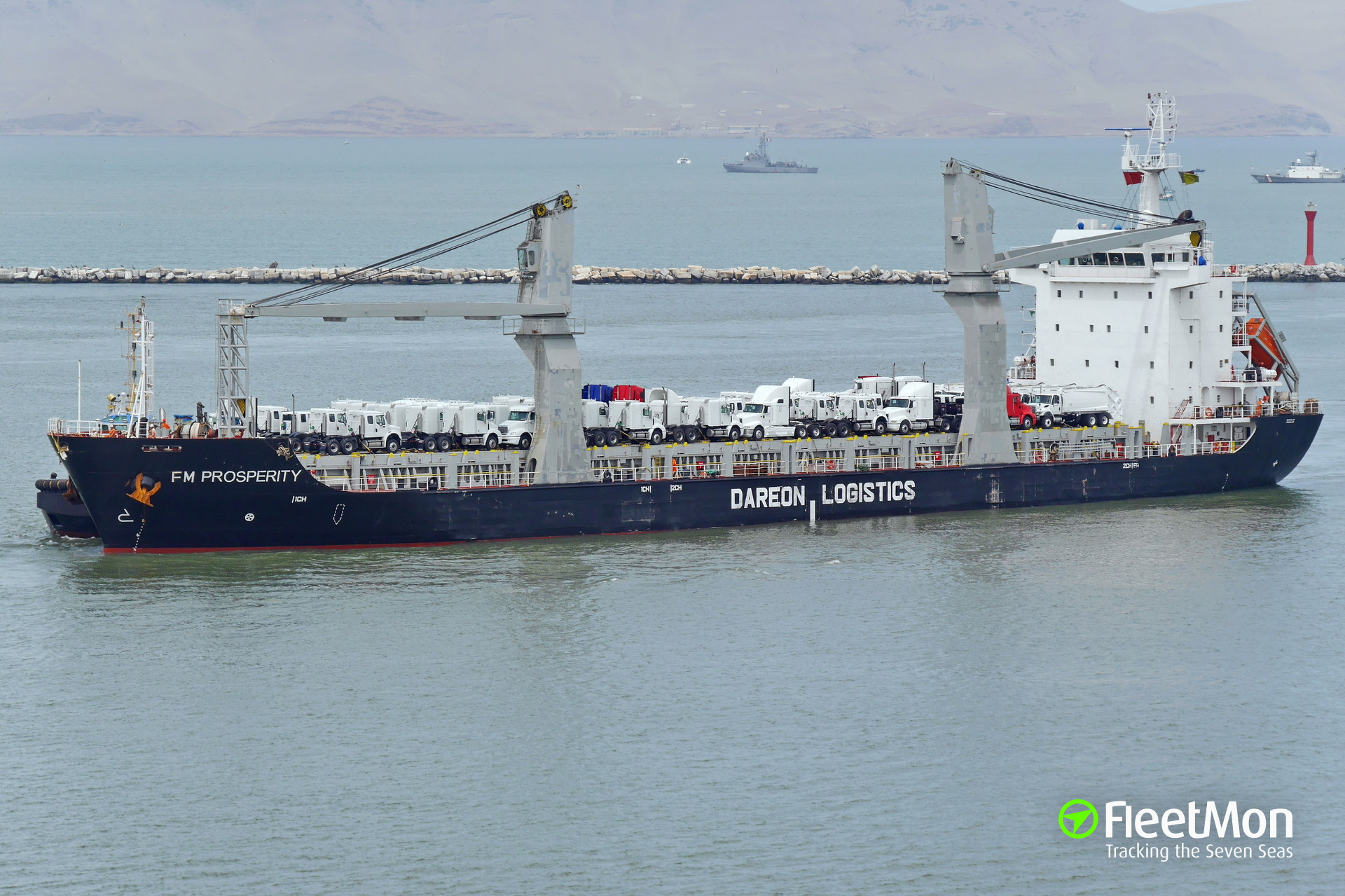 Chinese freighter FM Prosperity aground in Baja California, Mexico