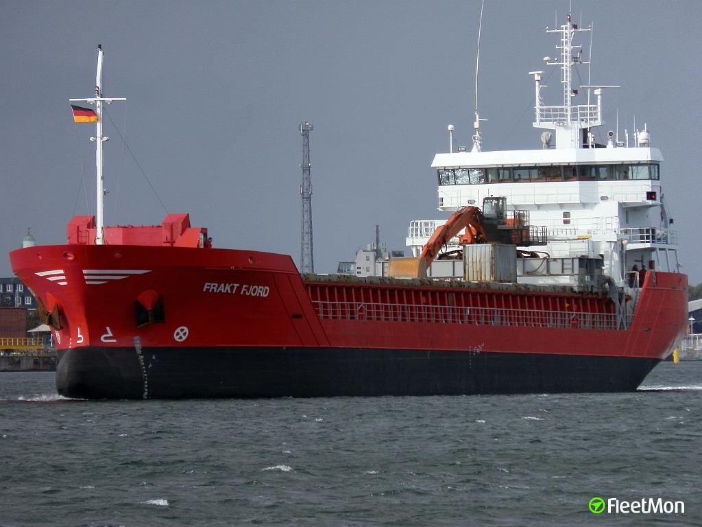 Frakt Fjord aground and refloated