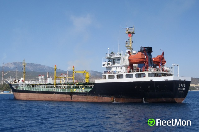 Tanker grounding, Milos island, Greece
