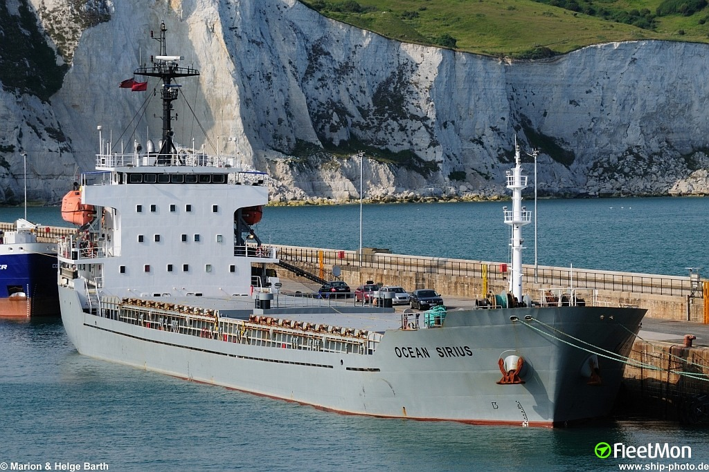 Disabled freighter Ocean Sirius towed to Dover