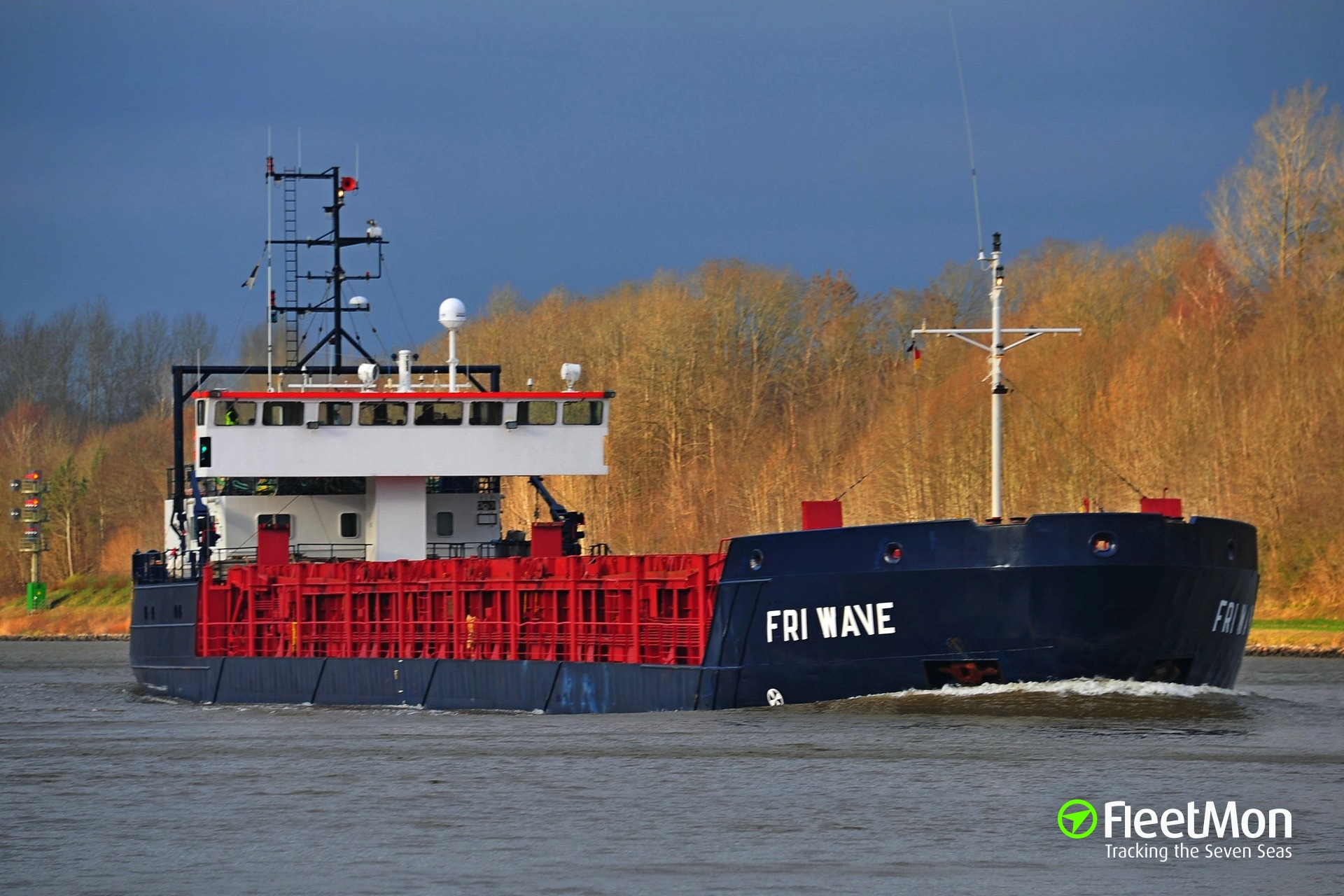 General cargo vessel Fri Wave grounded and refloated