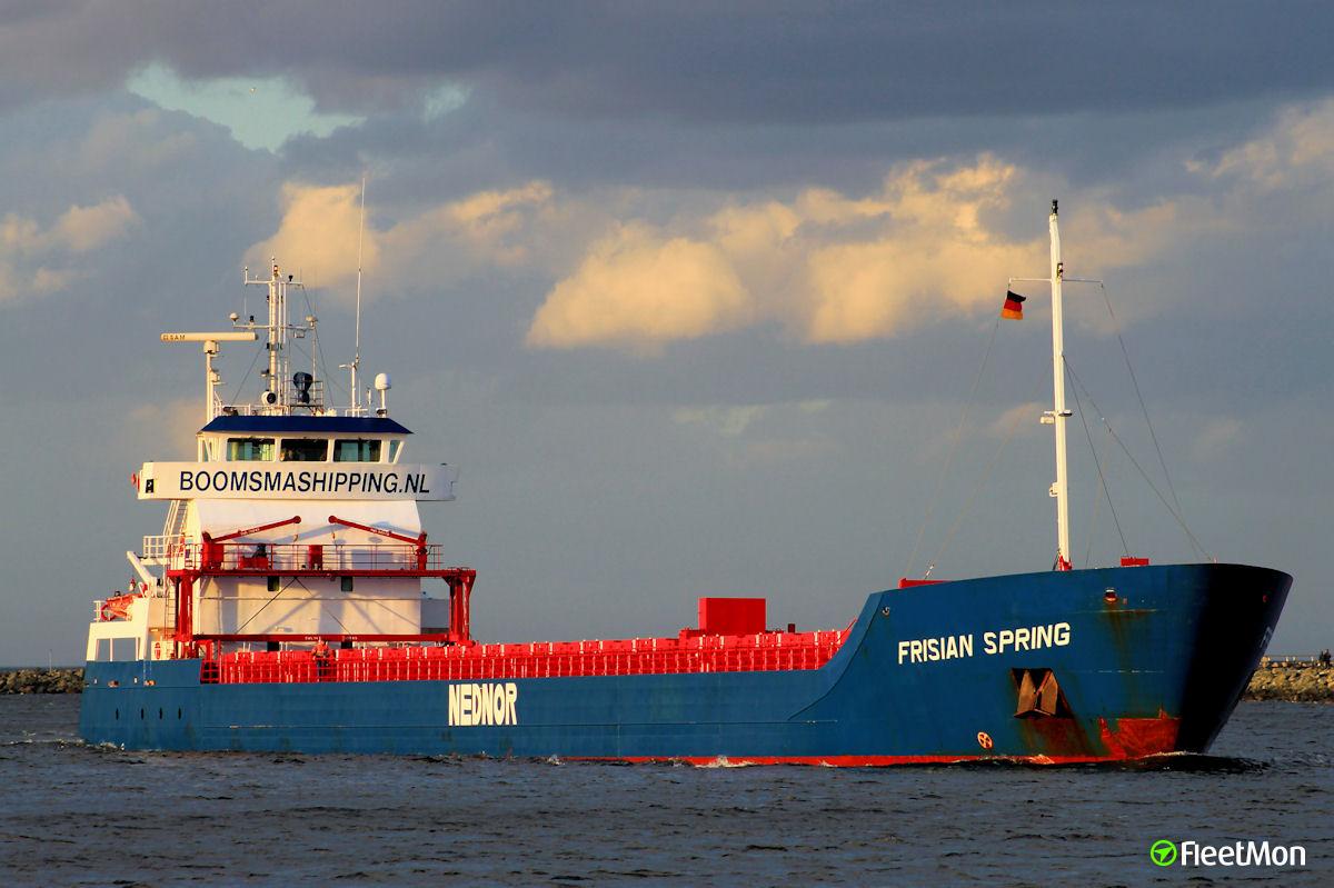 FRISIAN SPRING vs. CG station near-miss at Vysotsk port, Russia