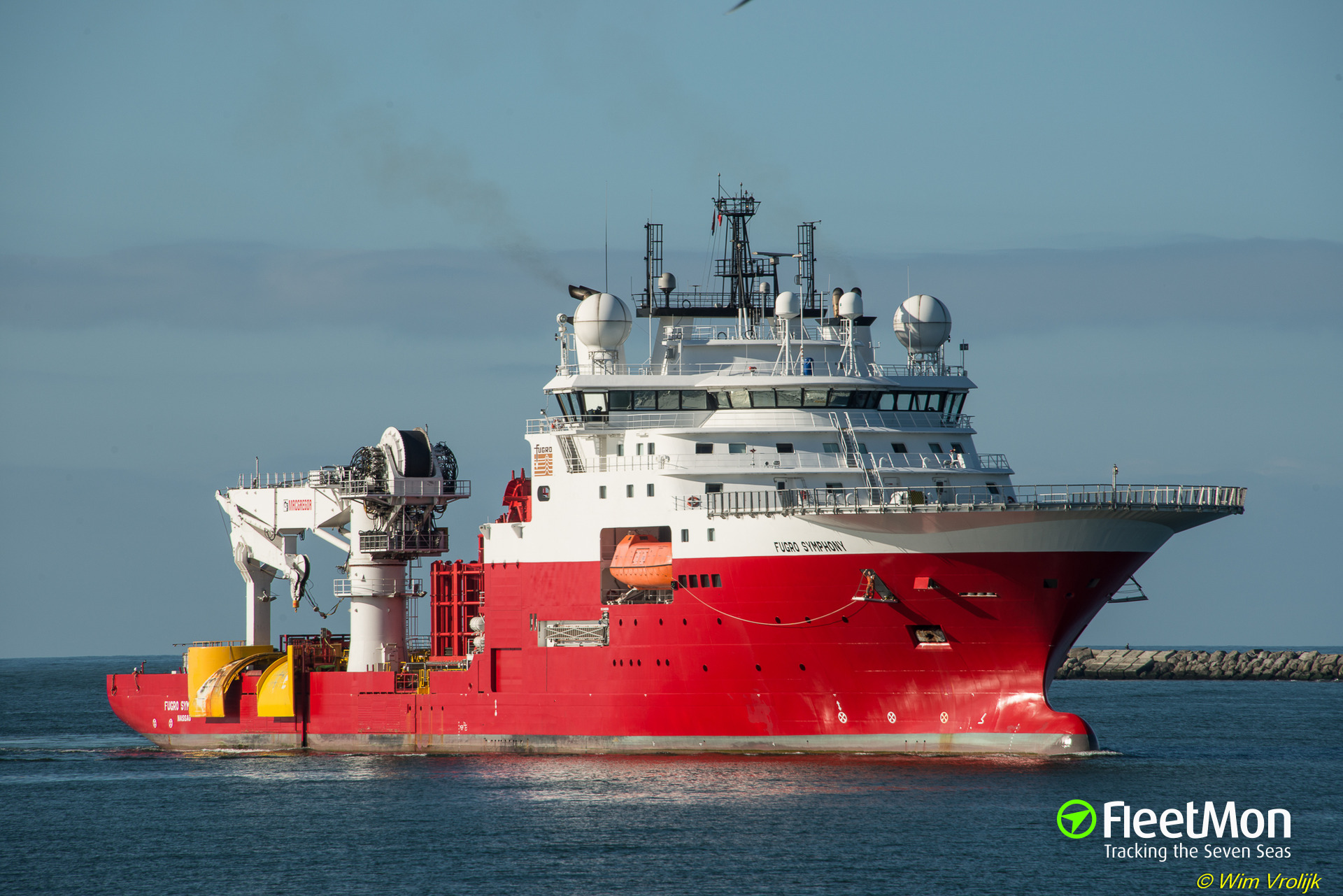 Fire on board of offshore supply vessel, Scotland
