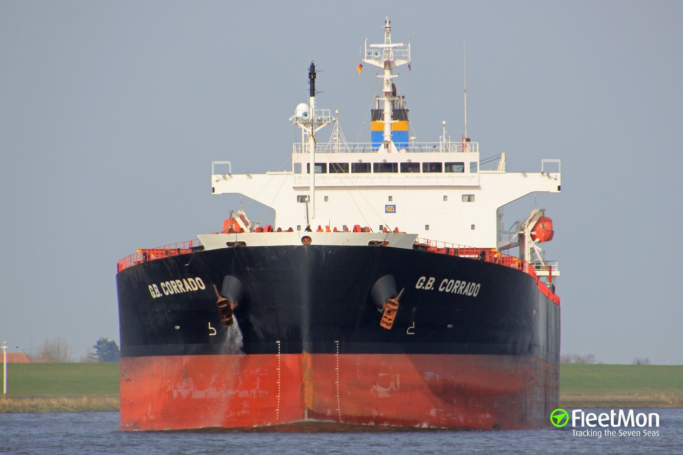 Bulk carrier G.B. Corrado still aground