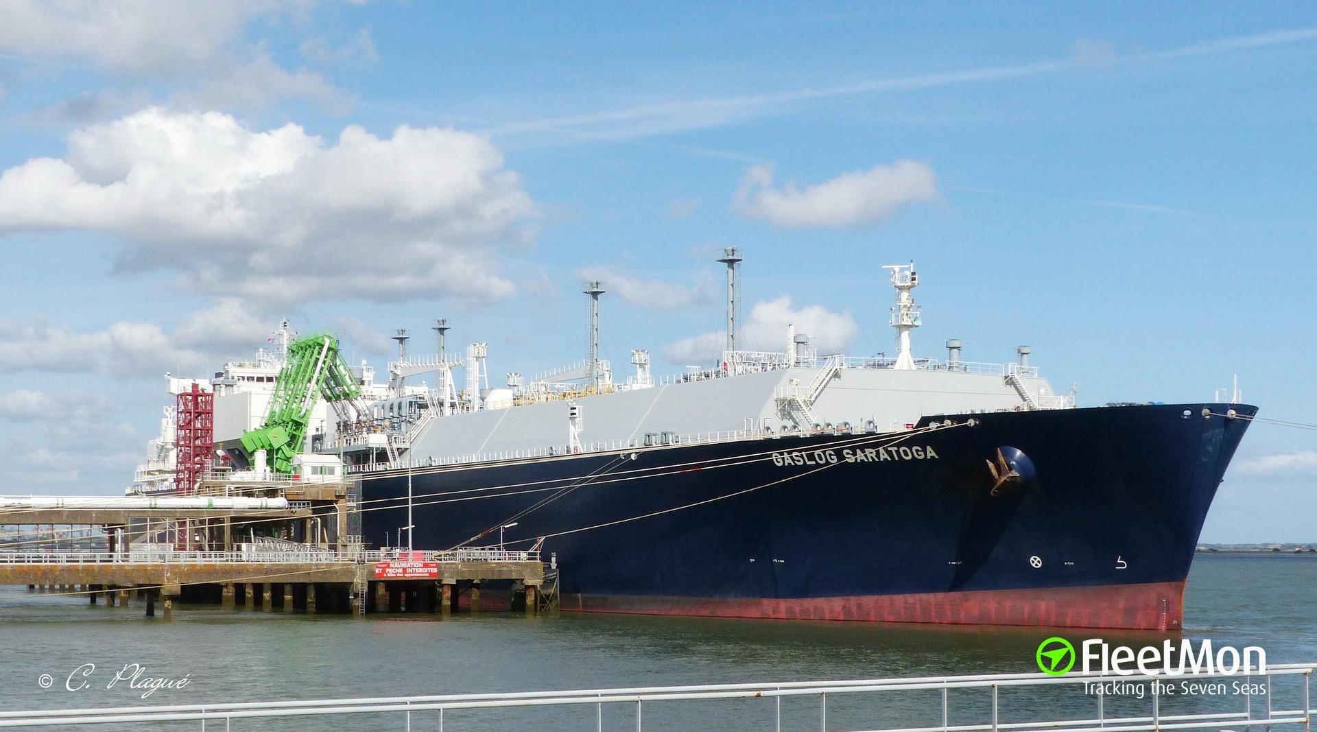 LNG tanker grounding, Crete   GASLOG SARATOGA - FleetMon Maritime News