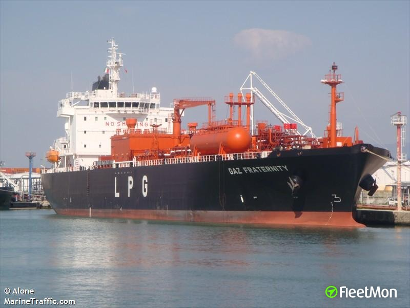 Two crew poisoned by carbon monoxide on board of GAS FRATERNITY