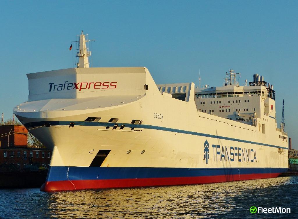 Dutch cargo ferry damaged in collision, Antwerp