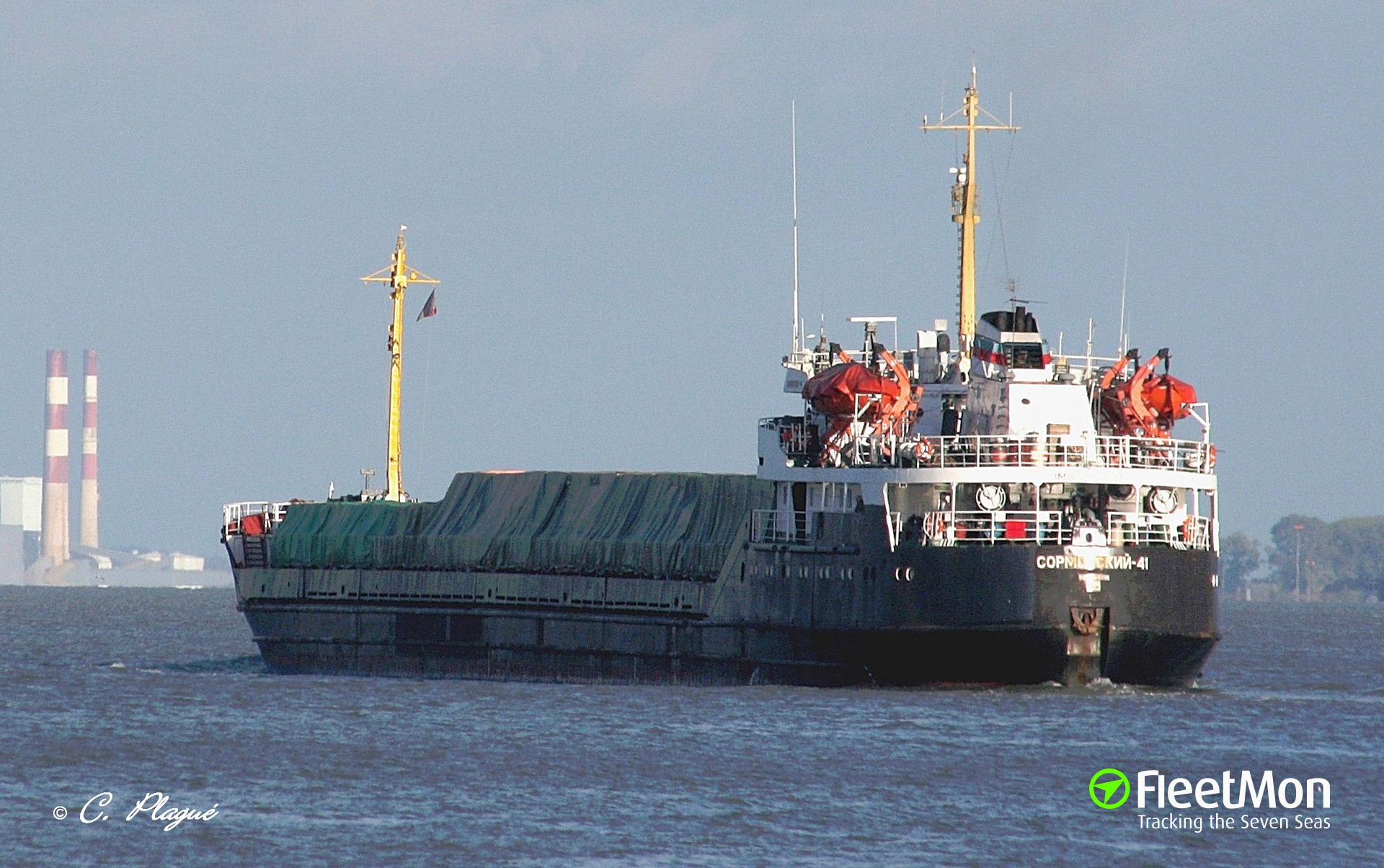 General cargo vessel NICKY aground, Azov sea