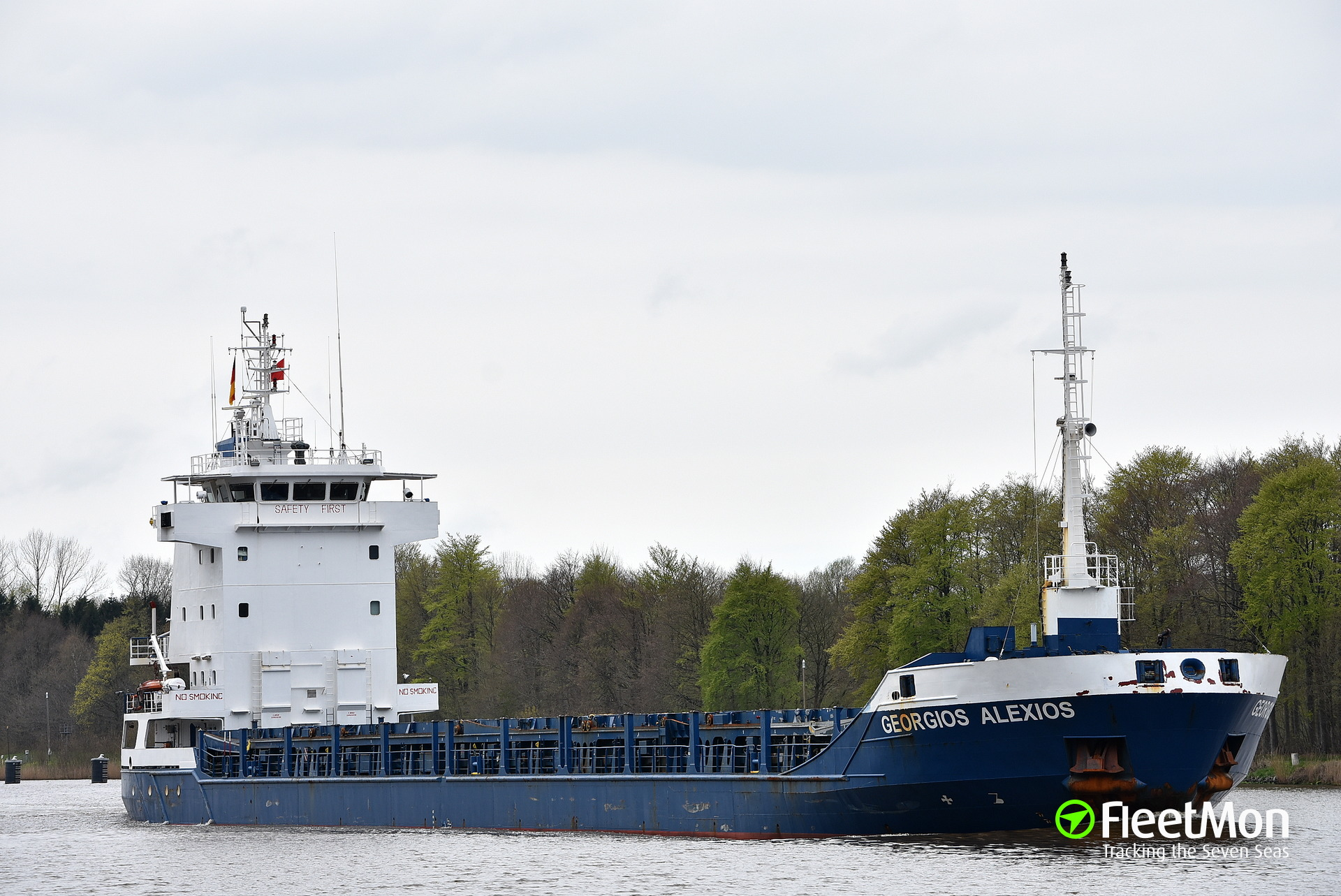 Greek freighter collided with French trawler in UK waters