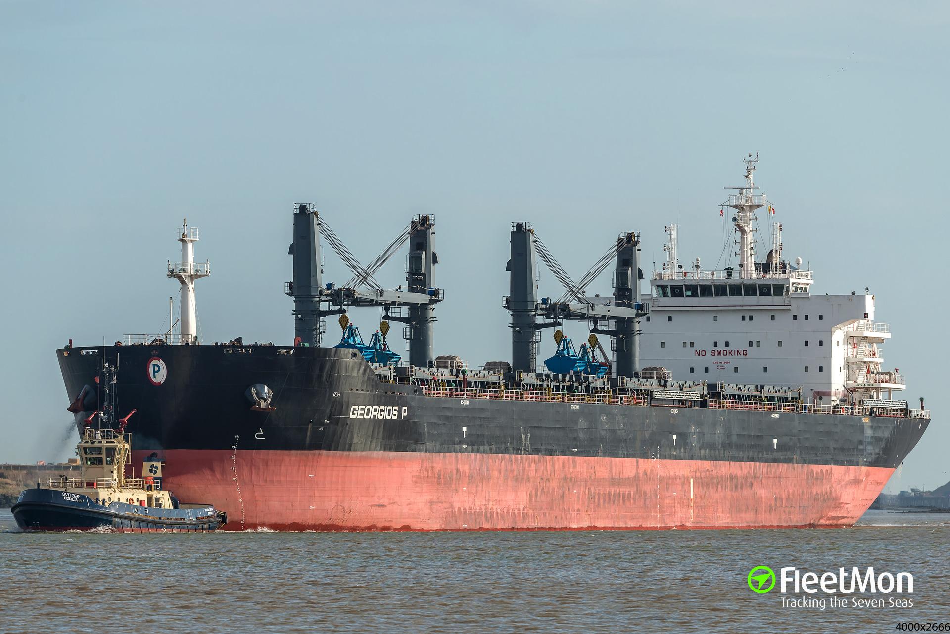 Bulk carrier fire and mysterious behavior, Black sea