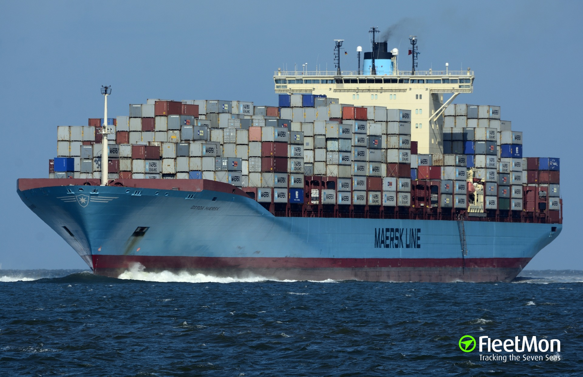 Maersk boxship Mathilde Maersk disabled by fire transiting Suez