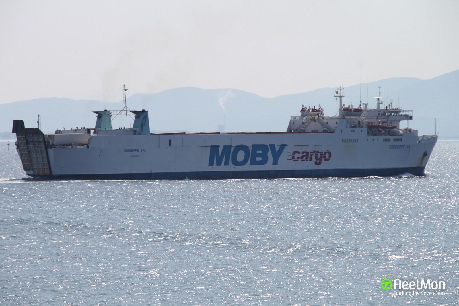 Ferry GIUSEPPE SA fire, Sardinia
