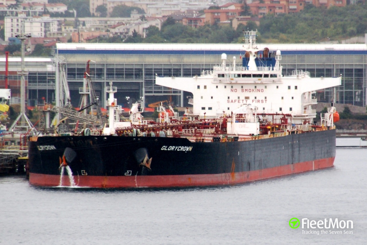Vessel GLORYCROWN (Oil tanker) IMO 9408190, MMSI 538005144