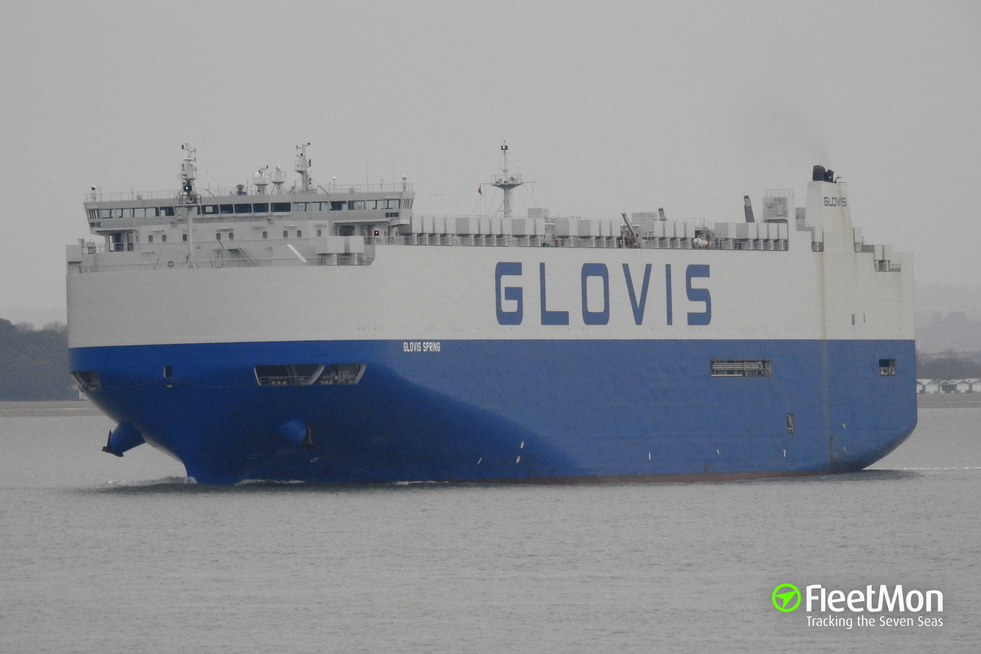 Car carrier GLOVIS SPRING aground in South China sea Black Hole