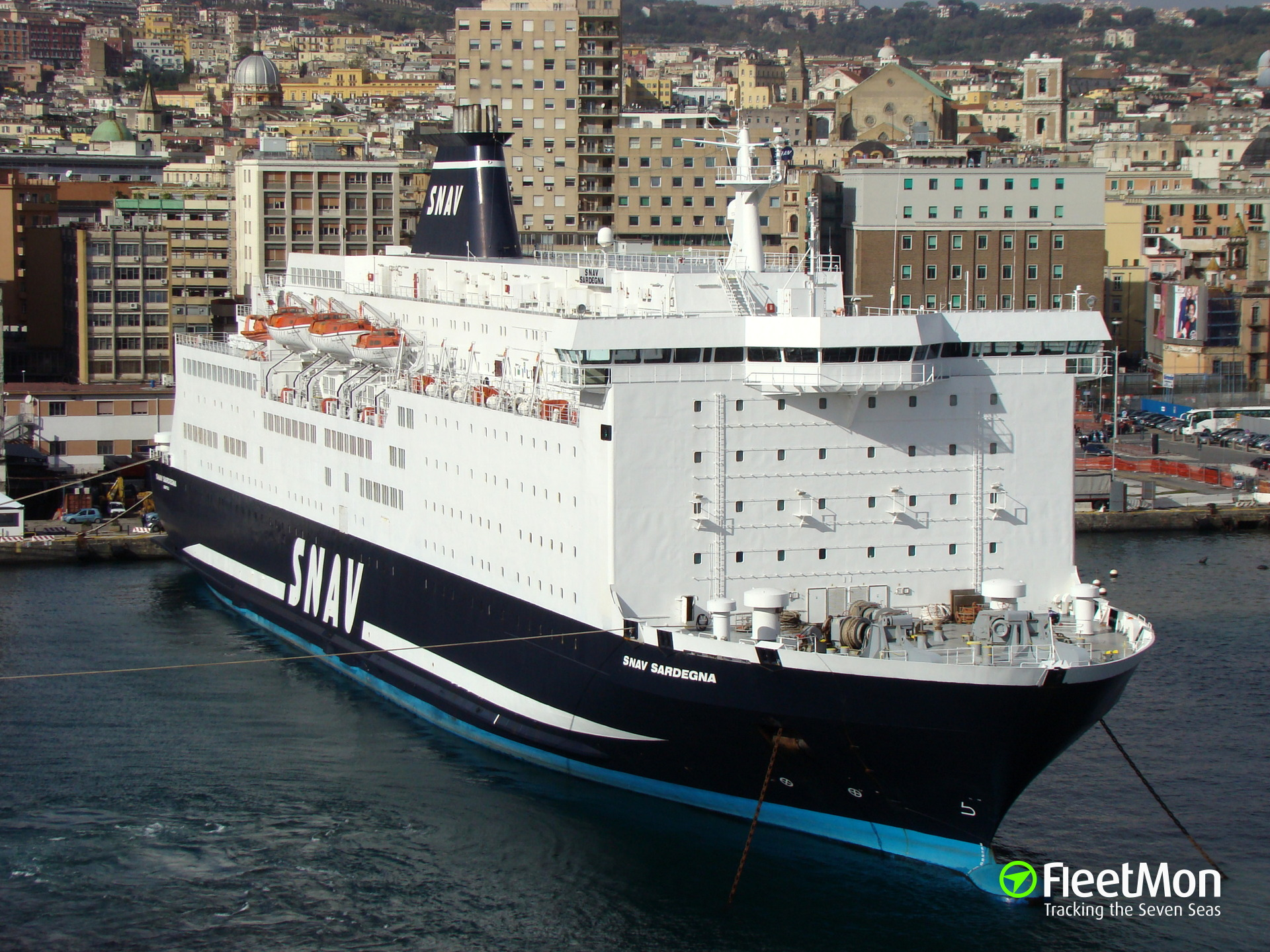 Ferry SNAV SARDEGNA troubled, Med