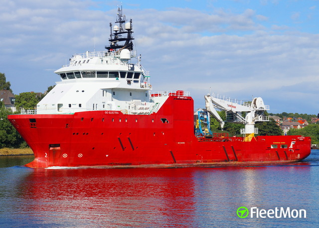 Vessel GO ELECTRA (Supply vessel) IMO 9545481, MMSI 538005197
