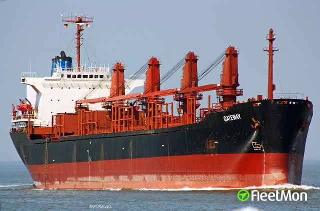 Bulk carrier on fire, crew abandoning the ship Update