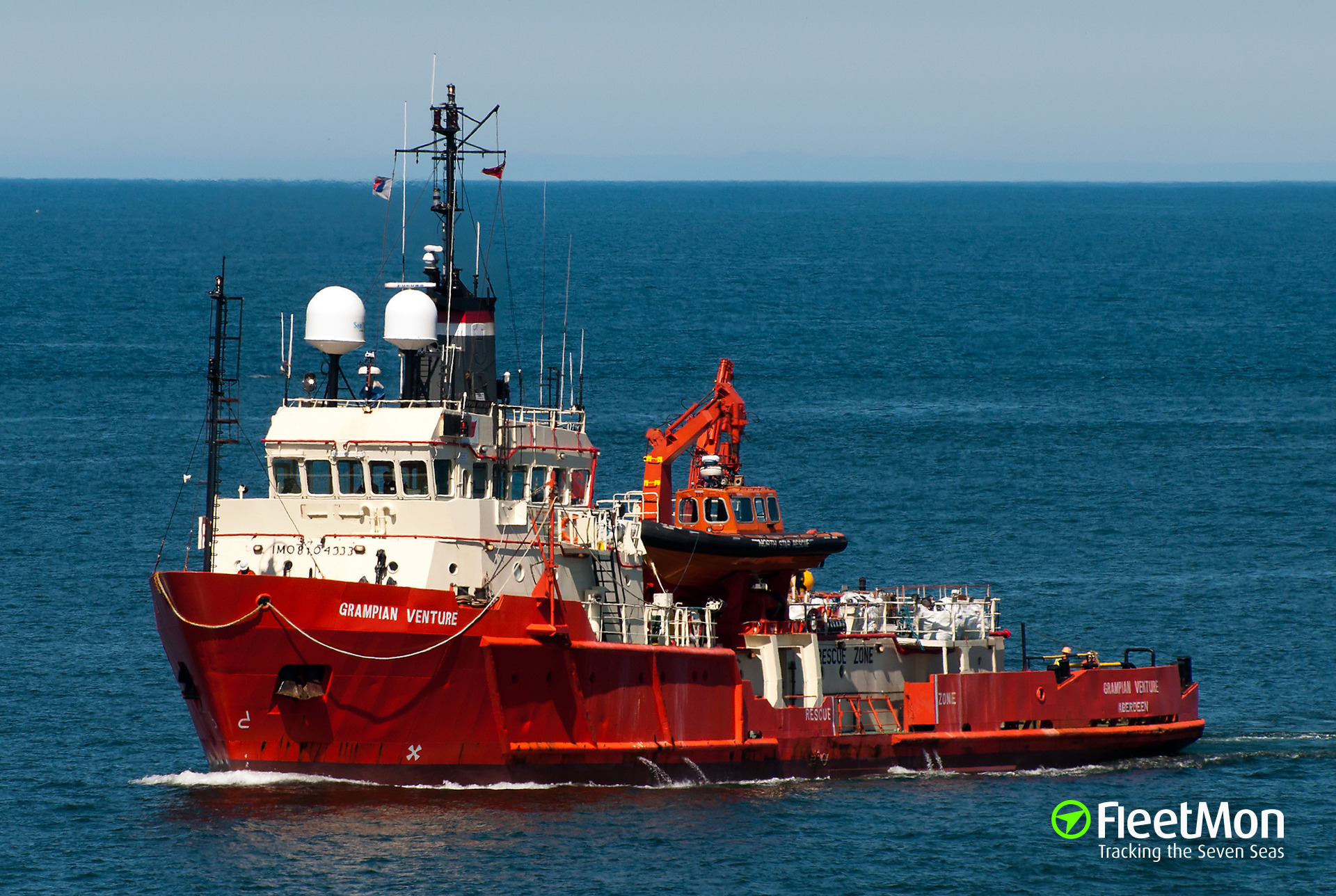 Standby vessel Grampian Venture in trouble, North Sea