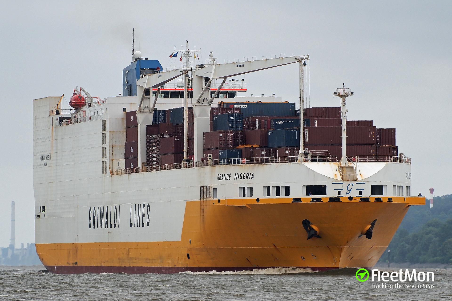 Senegal seized Italian Grimaldi's ro-ro ship
