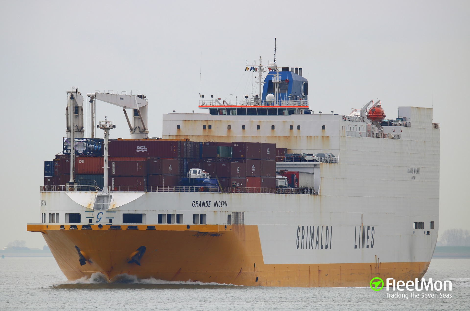 1.2 ton of cocaine smuggled on board of GRIMALDI ro-ro ship at Santos
