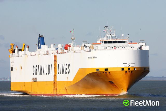 GRIMALDI's conro ship in trouble in English Channel? UPDATE troubled