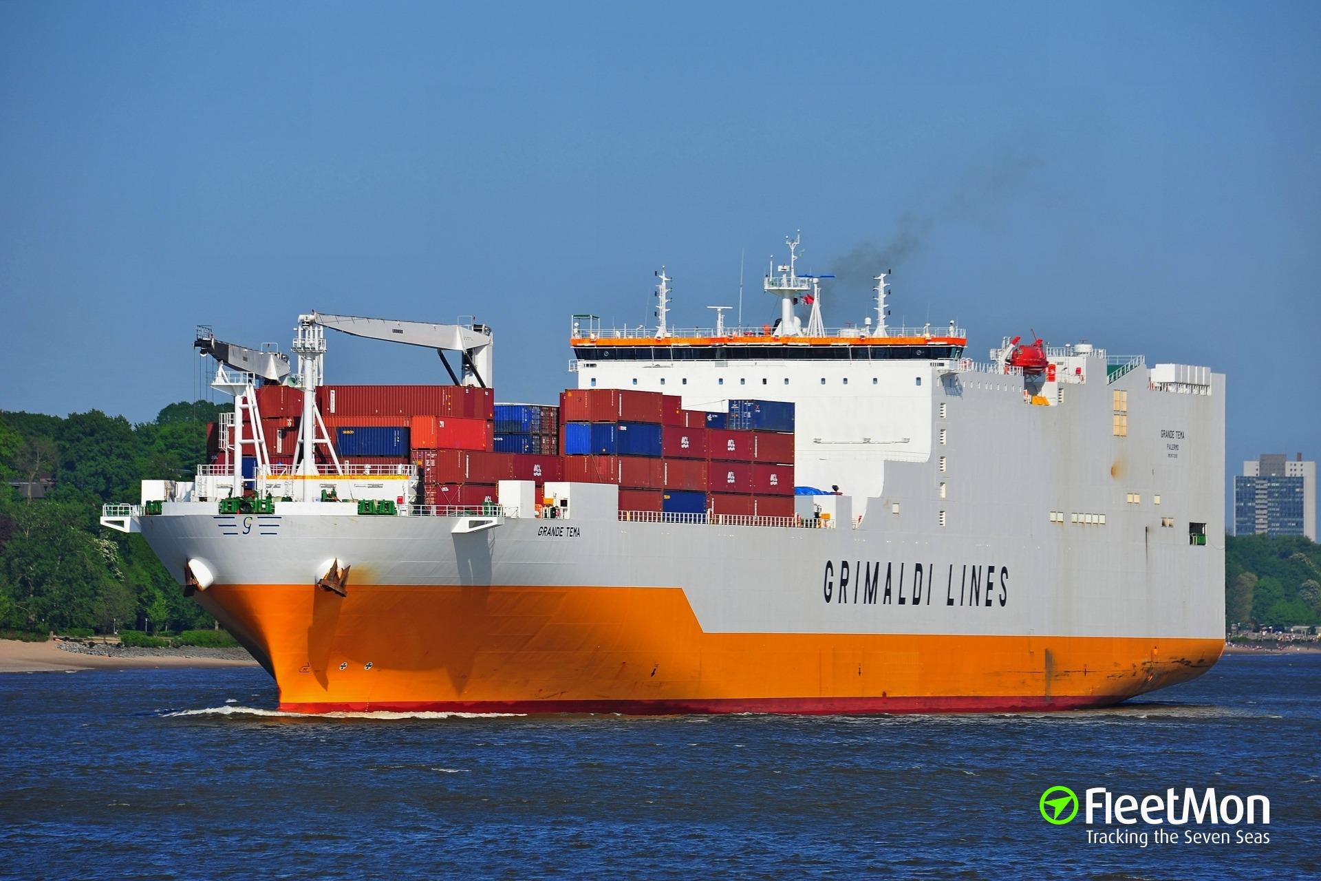 Vessel GRANDE TEMA (RoRo ship) IMO 9672090, MMSI 247341300