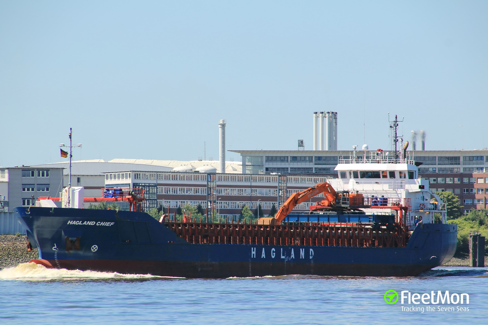 Freighter Hagland Chief aground and refloated, Norway