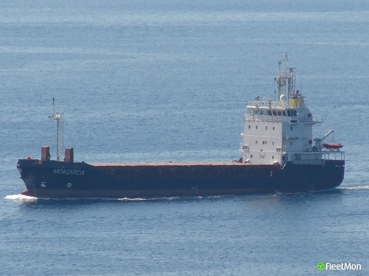General cargo vessel Mokosica ran aground, Norway