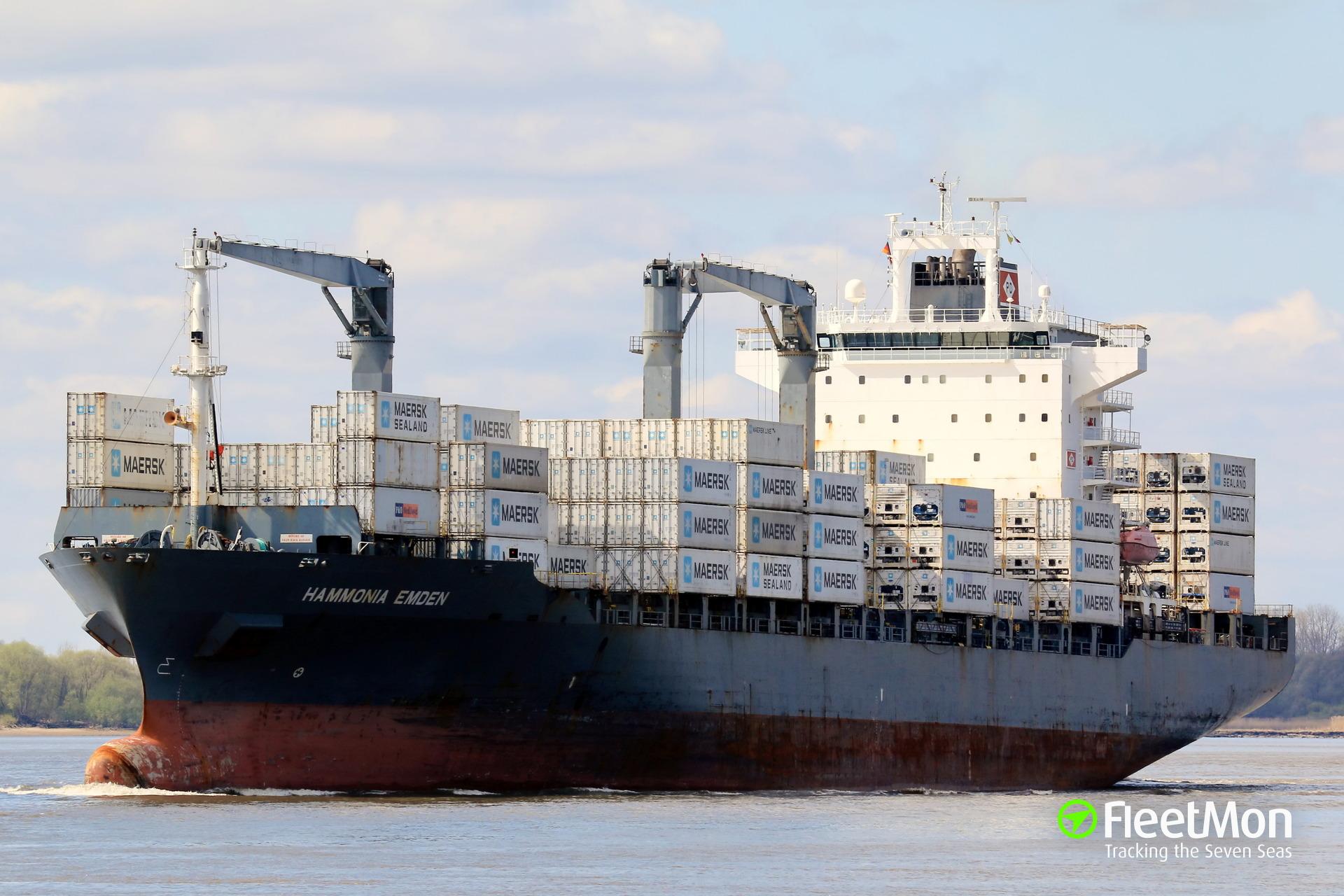 Cocaine found in container on board of HAMMONIA EMDEN, Colombia