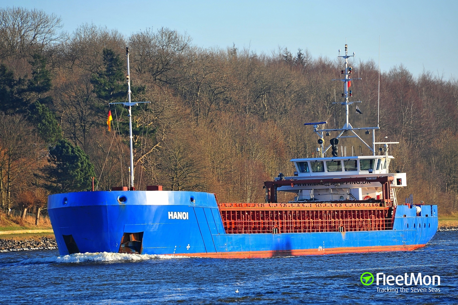 General cargo vessel Hanoi holed in Hamburg