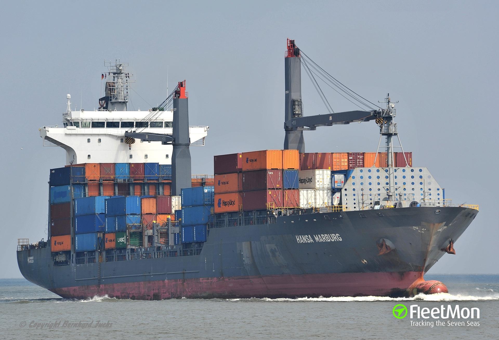 German boxship Hansa Marburg attacked by pirates, 4 crew hijacked, Nigeria