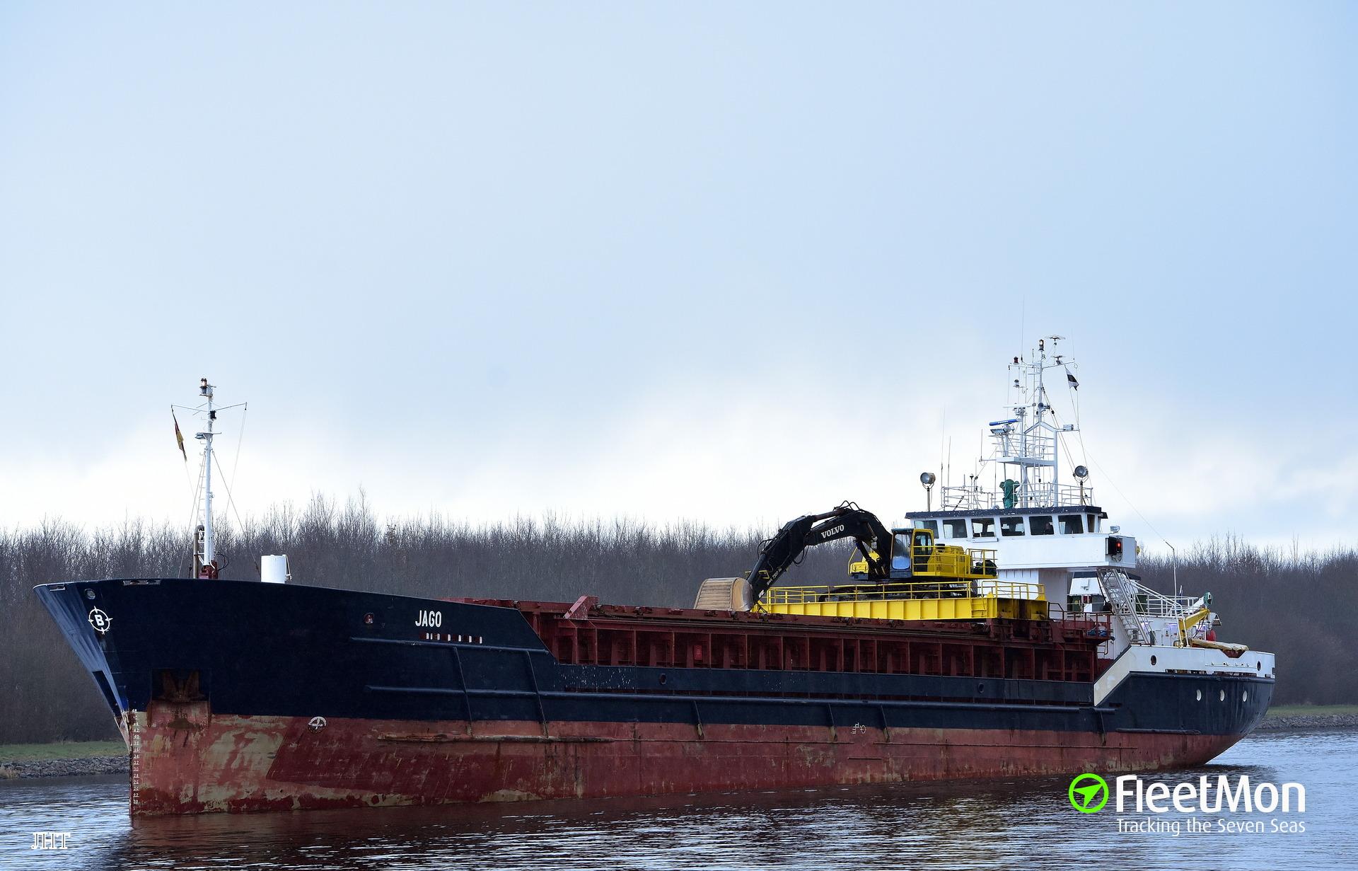 Cargo ship grounding off Kristiansund