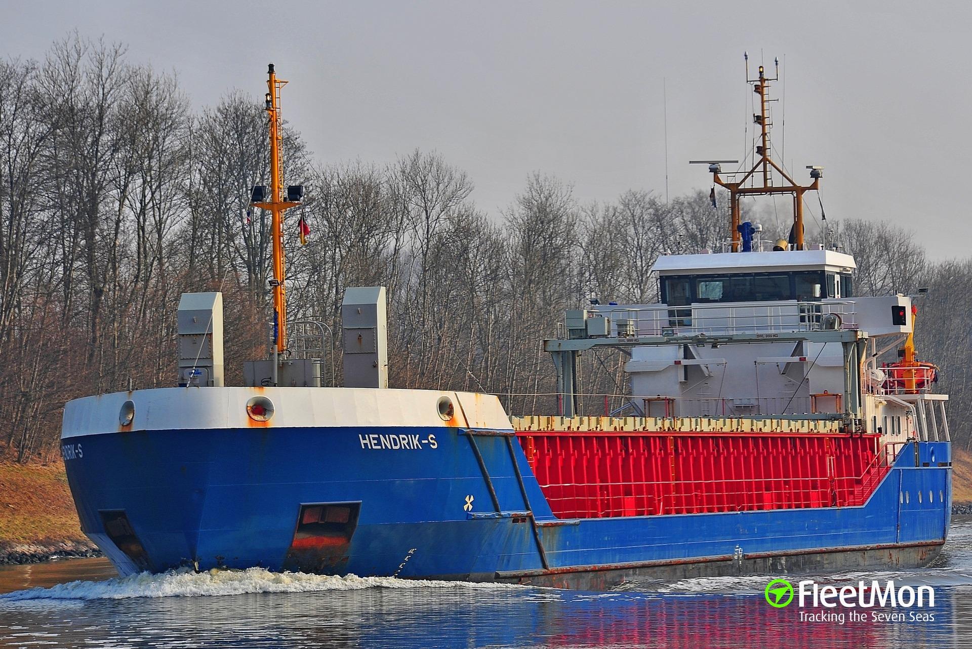   Freighter mishap off Pembroke, UK