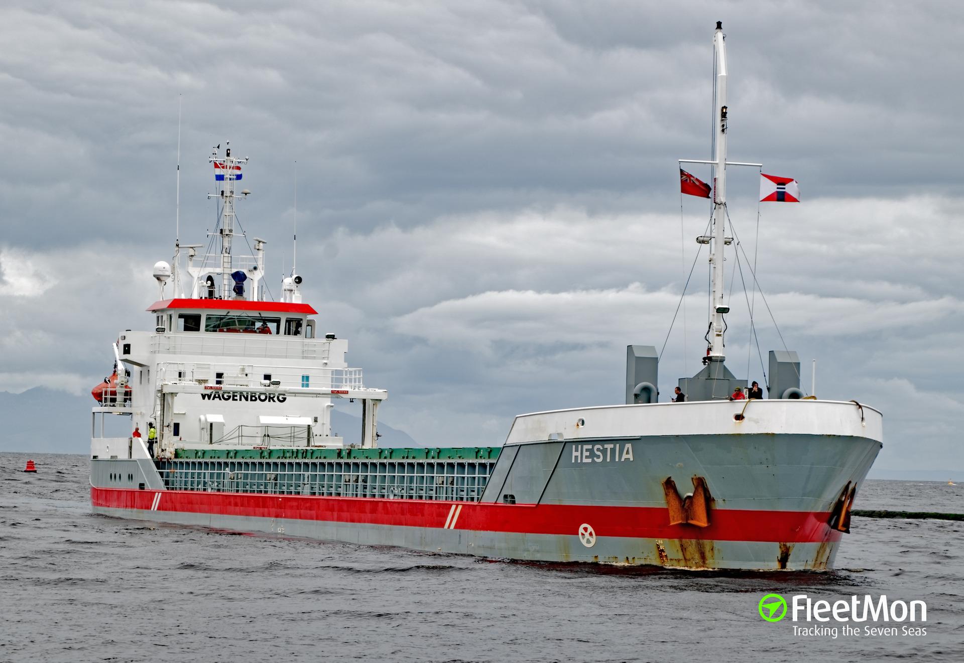 Dutch freighter HESTIA aground, Denmark