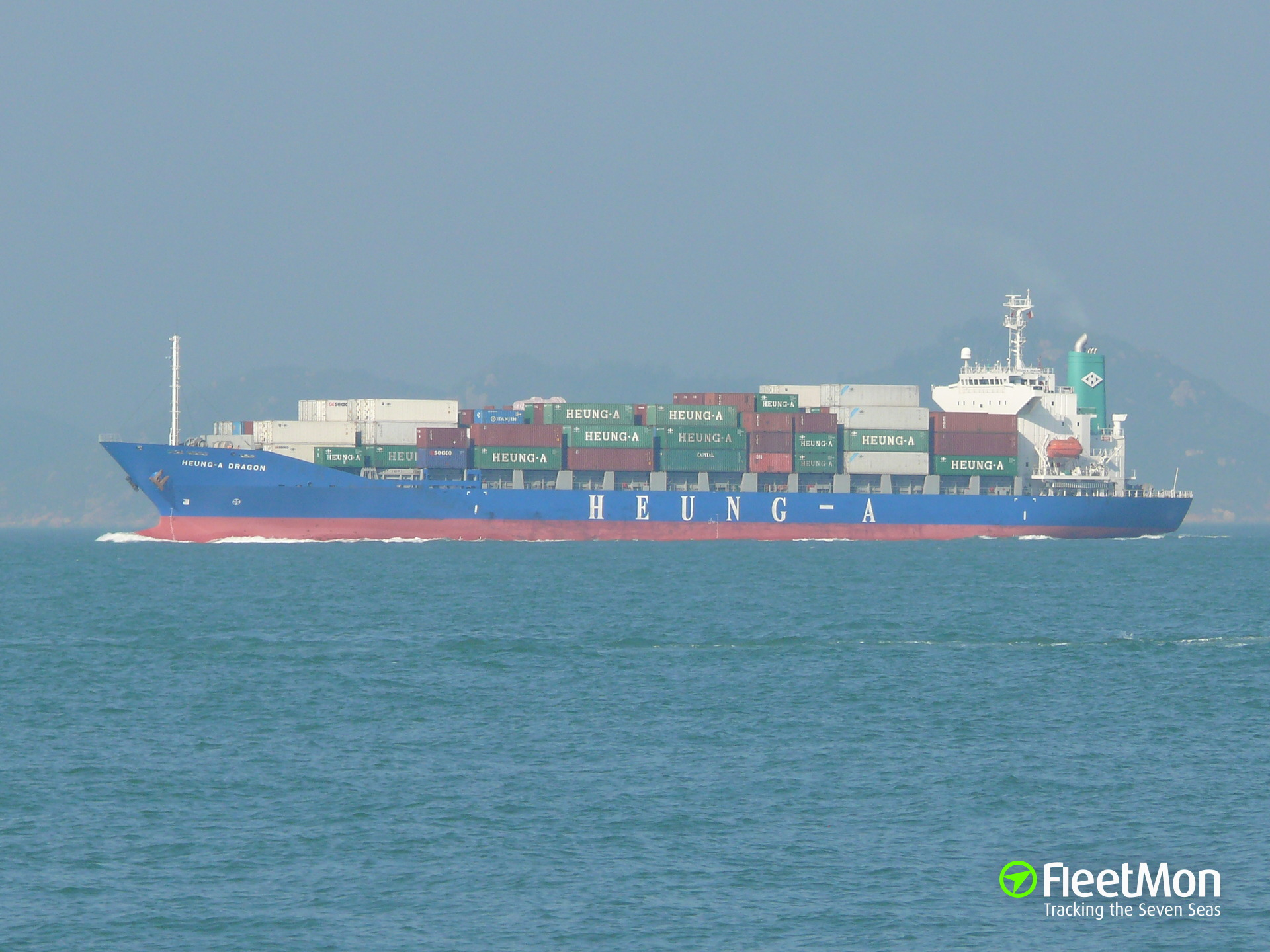 Boxship Heung-A Dargon sank after collision with bulk carrier Eleni, Vietnam