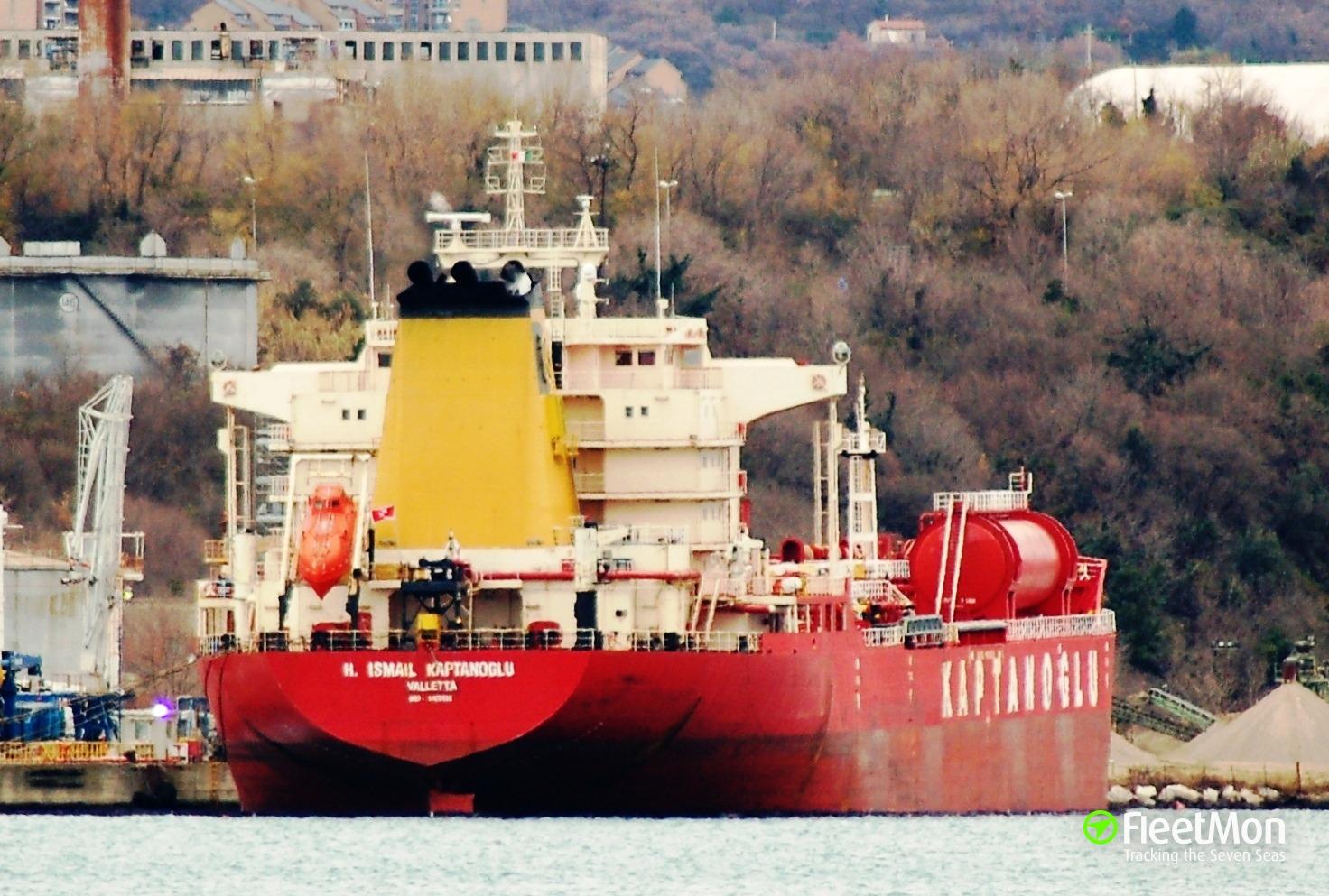 Tanker H.ISMAIL KAPTANOGLU leak, Albania