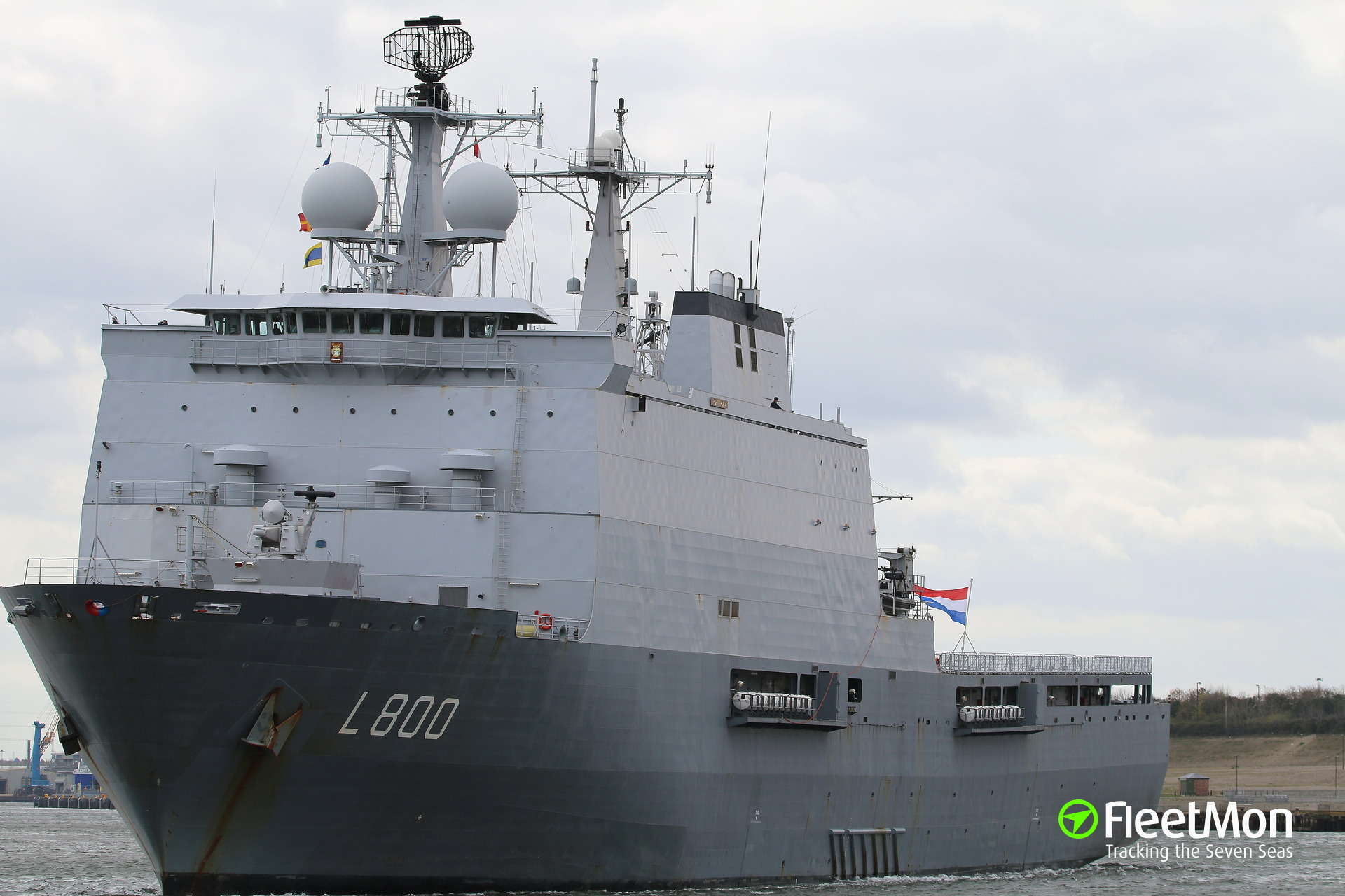 HNMLS Rotterdam destroyed mother ship while fired upon by pirates