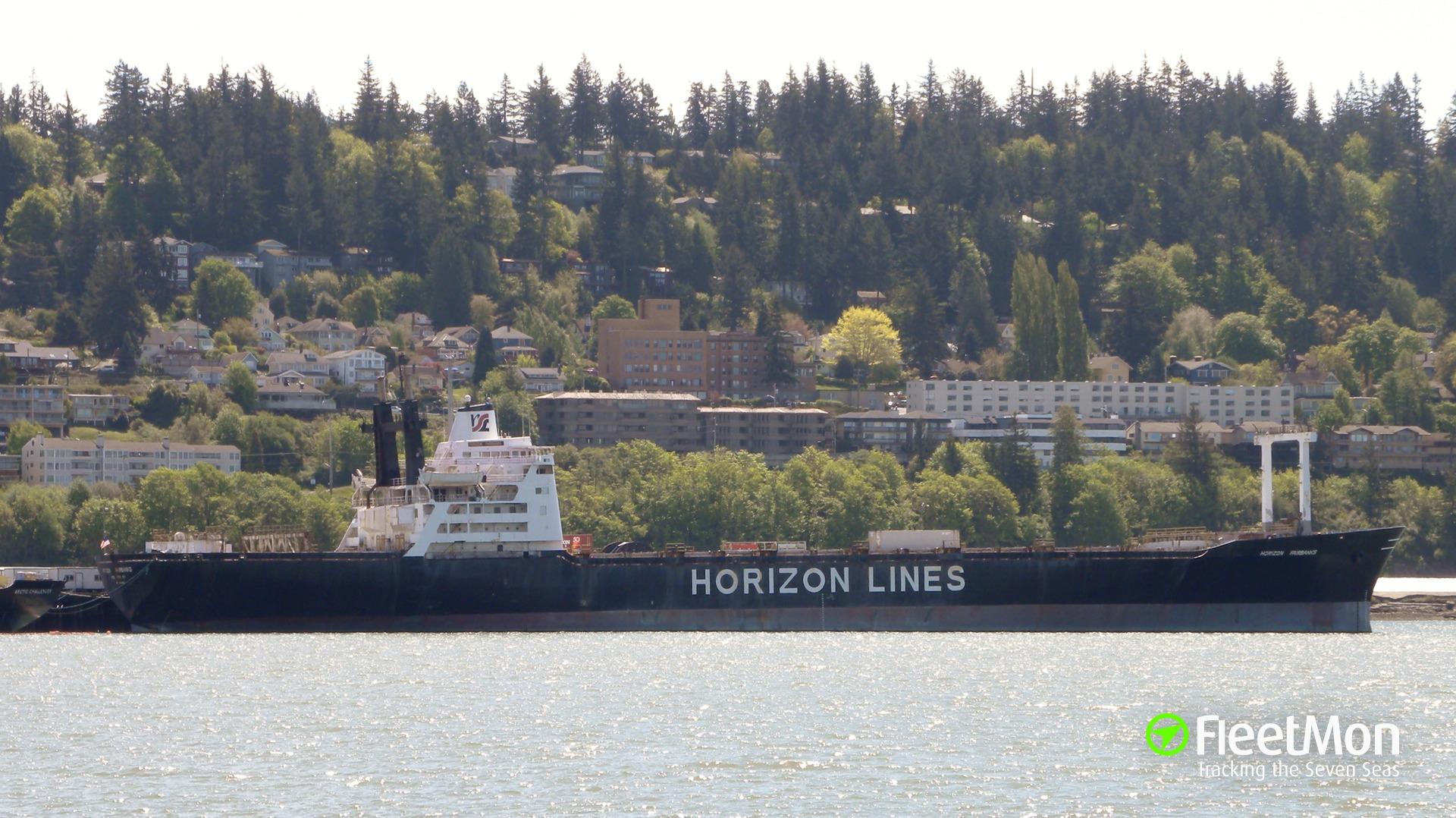 Container ship Horizon Fairbanks accident, Bellingham, Washington