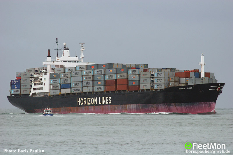 No trace of US container ship HORIZON TRADER, suspect in toxic waste dumping