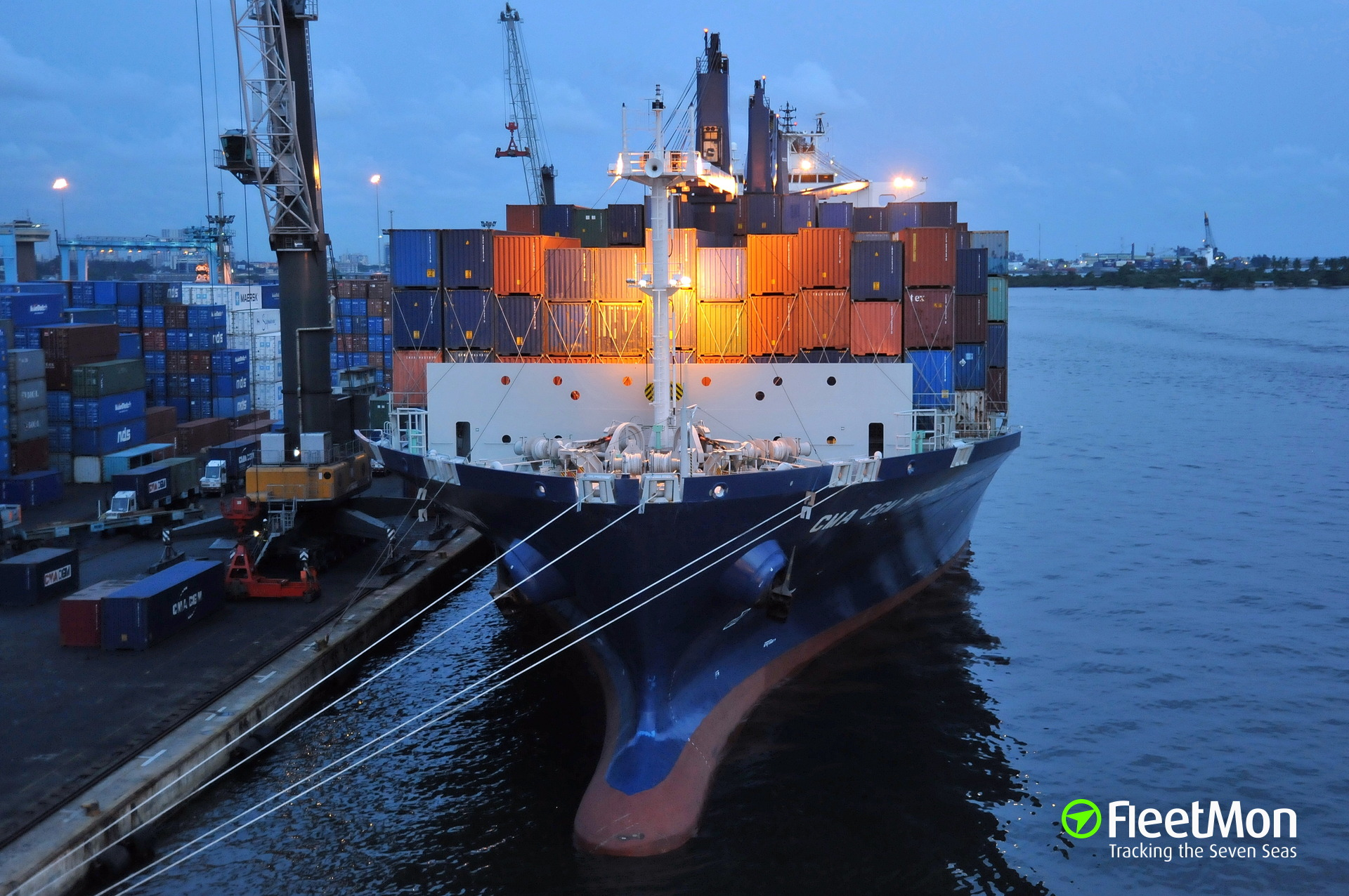 Boxship CMA CGM Africa Four and ref Frio Athens attacked, ref probably hijacked