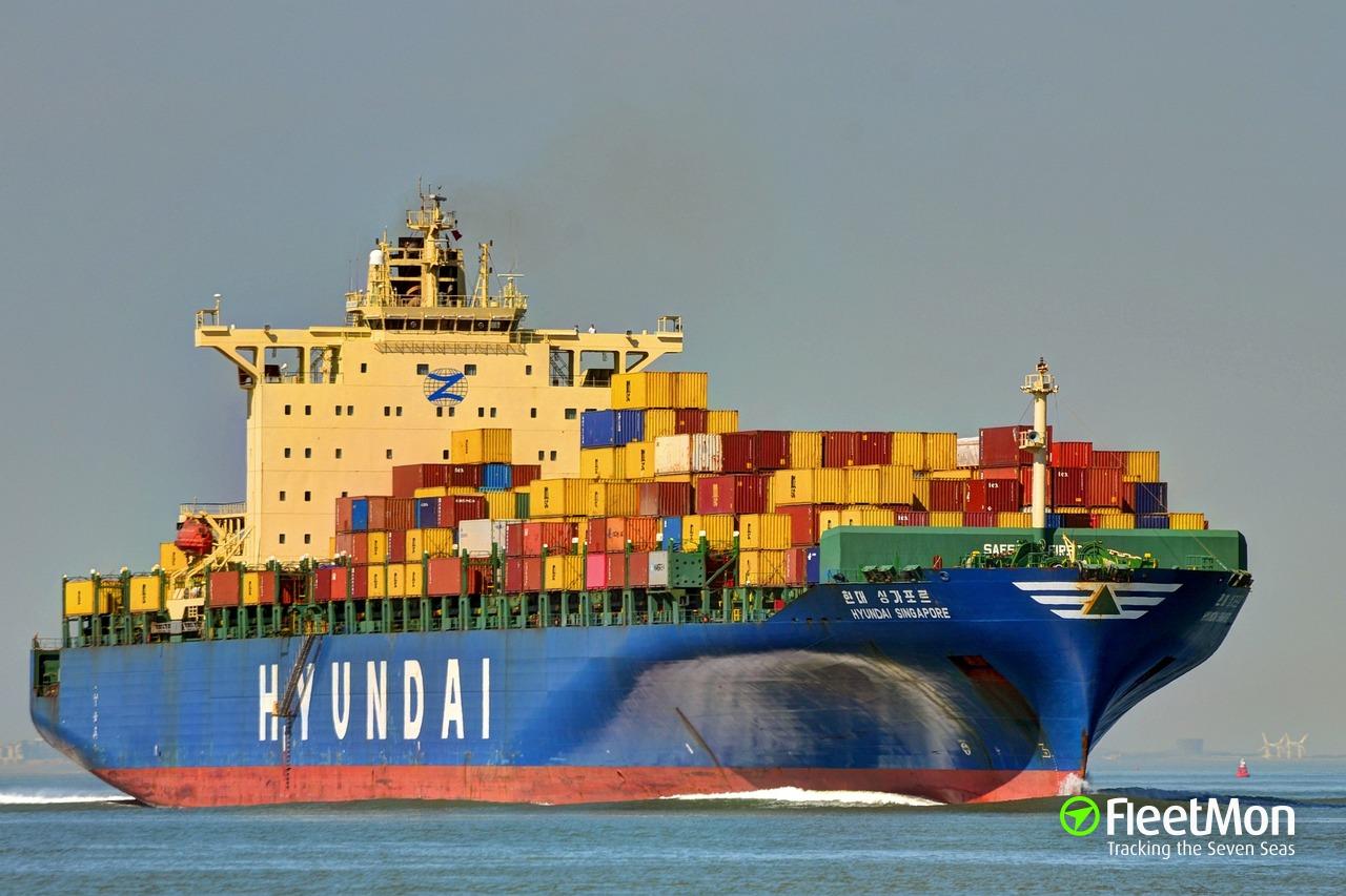 Hyundai Singapore Container Ship Imo 9305685